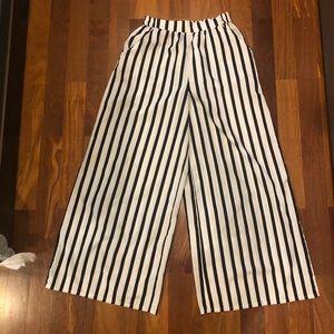 Zara stripe wide leg pants
